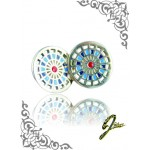 J Sliver Darts Board Ear Ring Double Blue