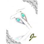 J Sliver Jewel Darts Ear Ring Blue