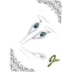 J Sliver Jewel Darts Ear Ring Sliver