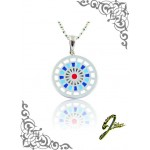 J Sliver Darts Board Pendant Double Blue
