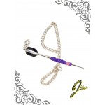J Sliver Darts In Jewel Pendant Giant Pink & Purple